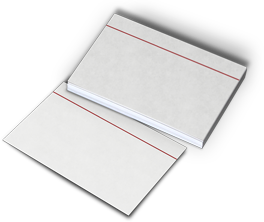 Index cards used for making note cards