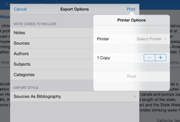 AirPrint enabled note cards